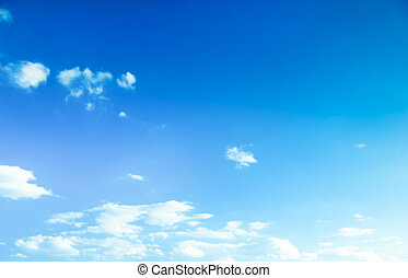 Blue sky background.
