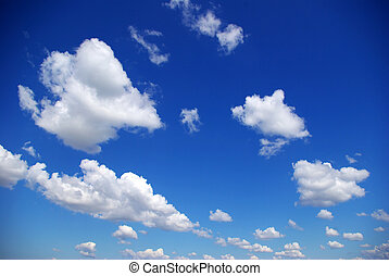 clouds - Blue sky background with a tiny clouds