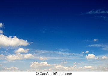 sky background  - Blue sky background with tiny clouds