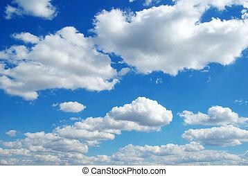 sky background  - blue sky background with tiny clouds