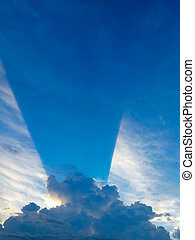 blue sky background with white cloud