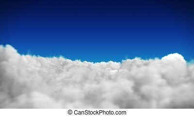Blue sky background with white clouds HD