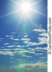 blue sky - blue sunny sky close background