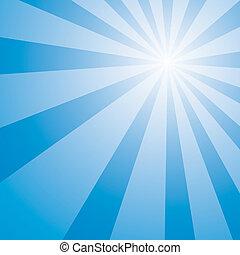 Blue Sky Burst - Blue sky sun light burst abstract...