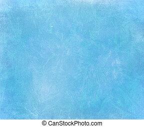 Blue sky chalk smudged handmade paper background - Blue sky...