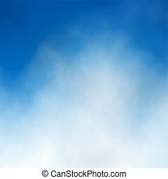 Editable vector illustration of cloud detail in a blue sky made with a gradient mesh