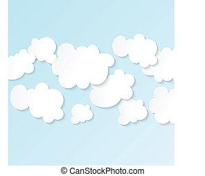 Blue Sky Clouds - Blue sky white fluffy clouds