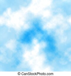 Blue sky clouds seamless tile