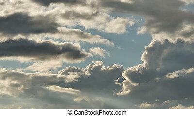 blue sky clouds time lapse 4k