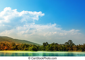 Blue Sky landscape.