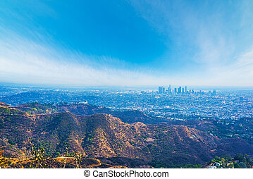 Blue sky over Los Angeles