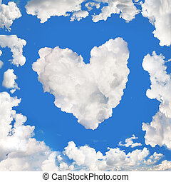 blue sky panorama as a cloud frame