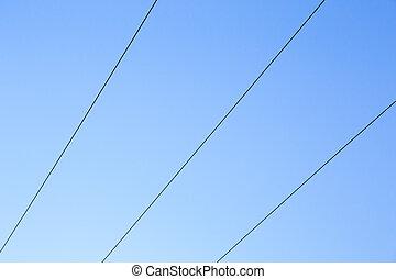 Blue Sky Power Lines