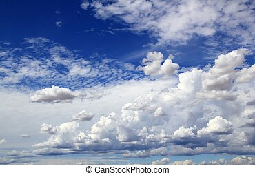 blue sky skyscape with clouds dramatic shapes