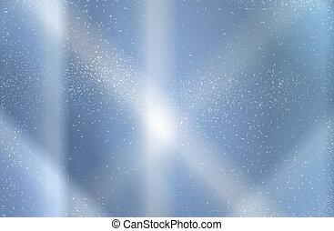 Blue Sky Snow Background