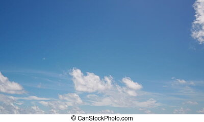 Blue sky - Timelapse of blue sky and white clouds