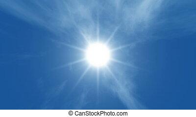 blue sky - clouds and sun, blue sky