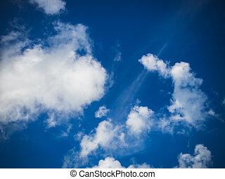 blue sky white cloud
