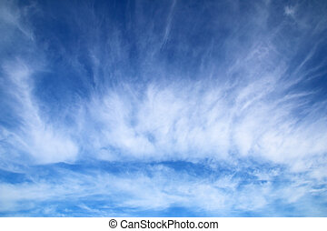 Blue sky, white clouds, natural abstract background.