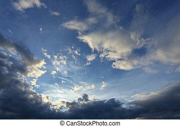 blue sky with beautiful cloud