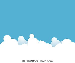 Blue sky with cloud background vector