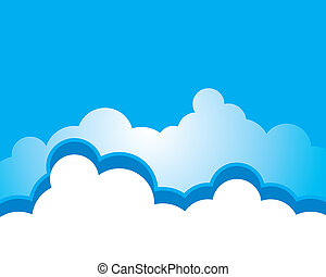 Blue sky with cloud background vector illustration