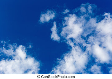 blue sky with cloud.