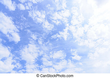 Blue sky with cloud in the morning.