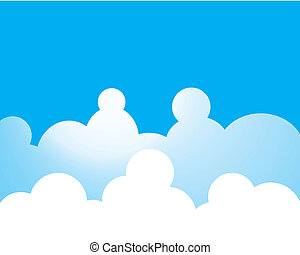 Blue sky with cloud vector icon illustration