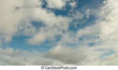 Blue sky with clouds, aerial landscape . - Cloud scape: Blue...