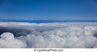 Blue sky with clouds, aerial photography - Blue sky and ...