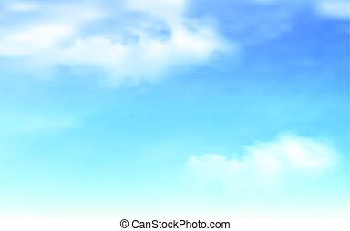 Blue sky with clouds background - Background with clouds on...