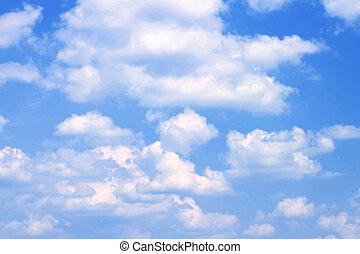 Blue sky with clouds close-up