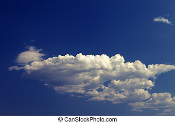 Blue sky with clouds in sun day