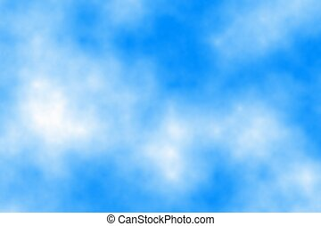 Blue sky with clouds in the afternoon, abstract background