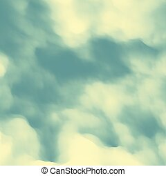 Blue Sky With Clouds. Modern pattern. Nature background. Modern pattern. Abstract Background. Vector Illustration.