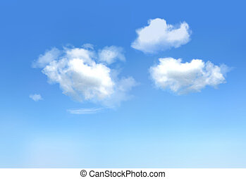 Blue sky with clouds. Vector