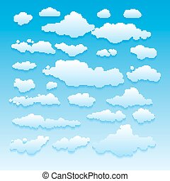 Blue sky with clouds vector nature