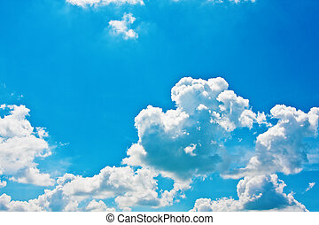Blue sky with cumulus clouds