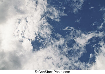 blue sky with dramatic clouds