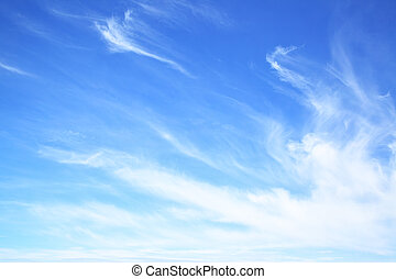 Blue sky with fantastic clouds