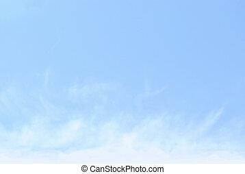 Blue sky with fleecy clouds