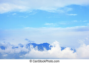 Blue Sky with mountain