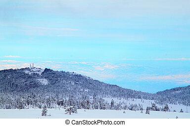 Blue Sky with snowy mountain