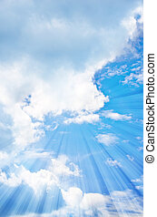 blue sky with splash light shines.