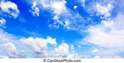Blue sky with white cloud1
