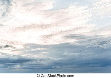 Blue sky with white clouds. Background from the cloudy sky.
