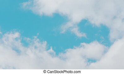 Blue Sky with White Clouds - Blue sky background with white...