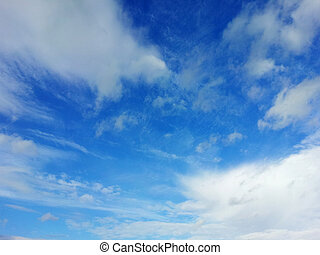 blue sky with white clouds on a sunny day