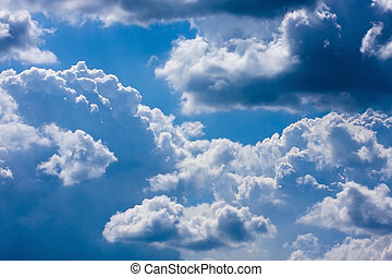 blue sky with white clouds on sunny day